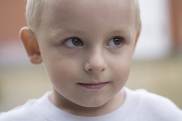 Portrait of a young boy aged 3-4 years