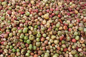 Manzanas amontonadas