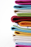 Fototapety Pile of linen kitchen towels