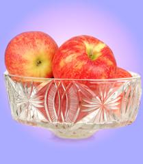 Red fresh apples.