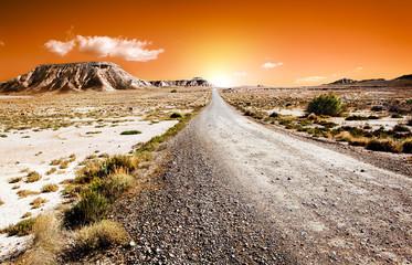 paisaje desertico con camino