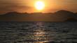 Sunset. A landscape. Lake.