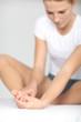 Sportlerin Füße