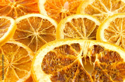 Fotobehang Plakjes fruit Getrocknete Orangenscheiben