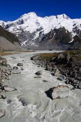 Glacier mountain stream portrait
