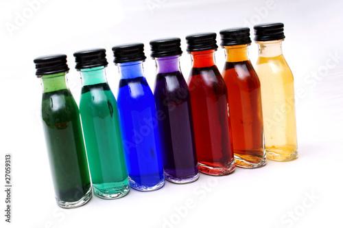 farbige kleine flaschen von kramografie lizenzfreies foto 27059313 auf. Black Bedroom Furniture Sets. Home Design Ideas