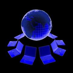 3d анимация сеть копьютер