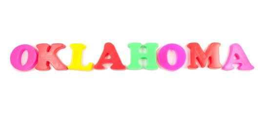 oklahoma written in fridge magnets