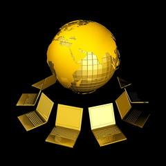 3d анимация сеть коппютер
