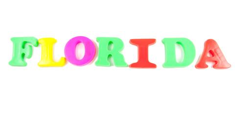 florida written in fridge magnets