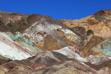 The rocks in Death Valley, USA