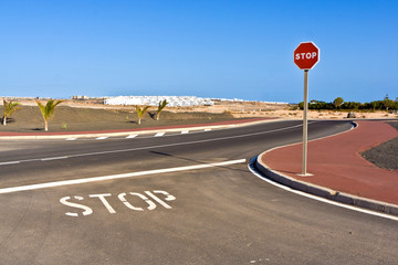 new roads for the development area in Lanzarote