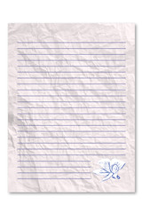 Blank letter note paper
