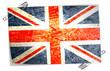 drapeau anglais avec épingles à nourrice