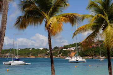 France, plage de Sainte Anne à la Guadeloupe