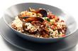 risotto con polpo, cozze e gamberi