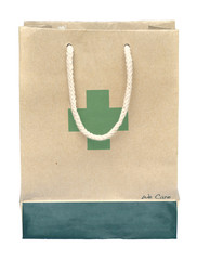 Medicine bag made from recycle paper