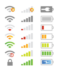 mobile phone laptop system icons