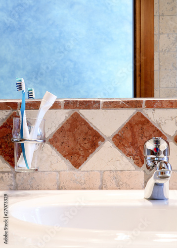 Detail of classic bathroom interior