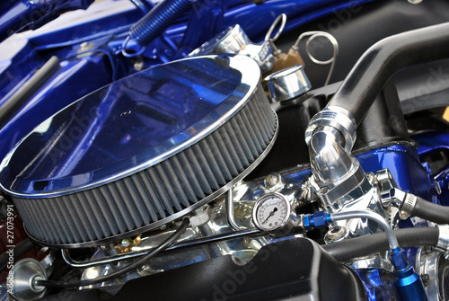 Poster Sixties Muscle Car Engine