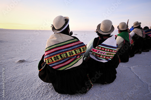 Leinwanddruck Bild Capodanno Aymara