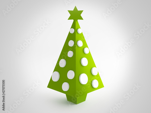 Christmas green tree