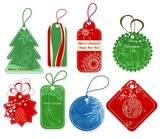 Fototapety Christmas price tags collection
