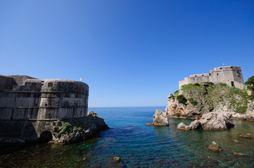 Adriatic Sea and Fort Bokar - Dubrovnik, Croatia