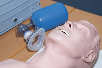 resuscitation demonstration - dummy