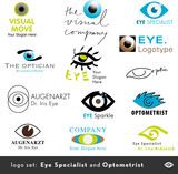 13 logos for opticians and eye specialists poster