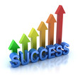 Success colorful graph concept