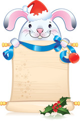 White rabbit - symbol of Chinese horoscope