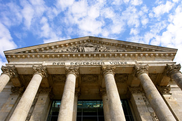 Detail of The Reichstag, the German Parliament