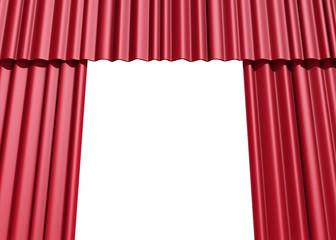Tendaggio palco rosso