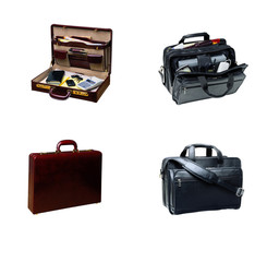 isolated collage of four bags