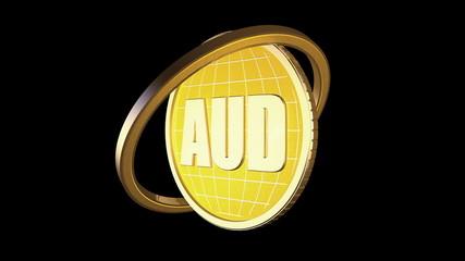 3d анимация золотая монета чёрный фон