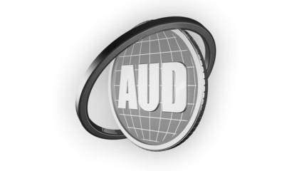 3d анимация серебряная монета