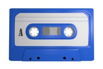 Tape Leer Cassette Freisteller Blau