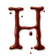 Vector chocolate letter