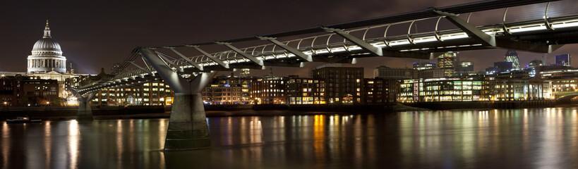St. Paul's and the Millennium Bridge Panoramic