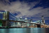 Fototapety New York City and Brooklyn Bridge