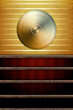 Music Background with Golden Disc