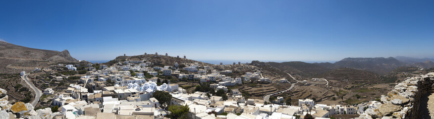 Amorgos Chora panoramic view, Cyclades, Greece
