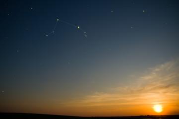 Aries on sky - zodiac constellation