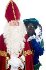 Saint Nicholas and his helper