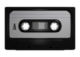 Tape Leer Cassette Freisteller Black