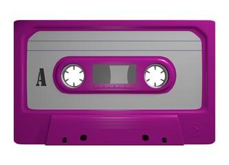 Tape Leer Cassette Freisteller Pink