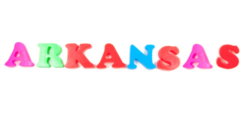 arkansas written in fridge magnets