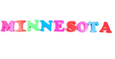 minnesota written in fridge magnets