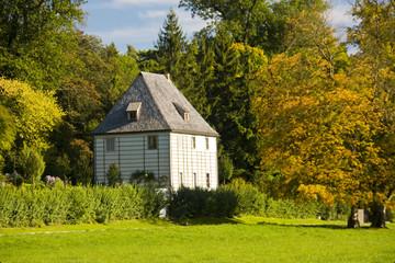 Thüringen, Weimar, Goethe Gartenhaus, Herbststimmung